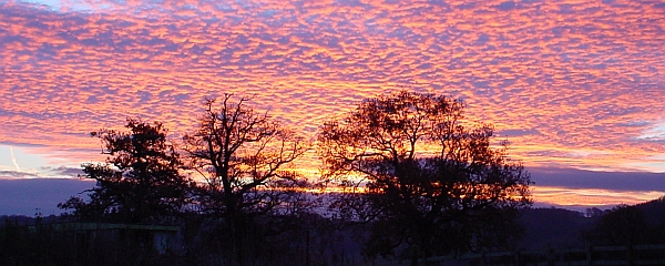 Sunrise over the Wye Valley