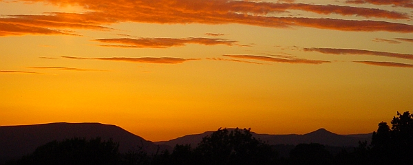 Sunset over the Black Mountains